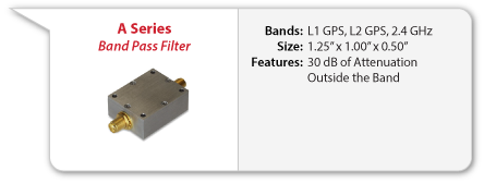 UAV and Military Band Pass Filter